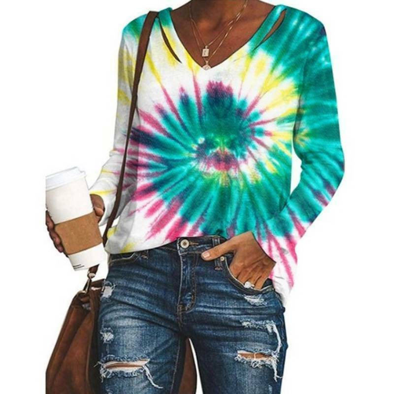 TIE DYE Sweatshirt Hipster Top Unissex Fashion Tye Die Pullover Festival Shirt