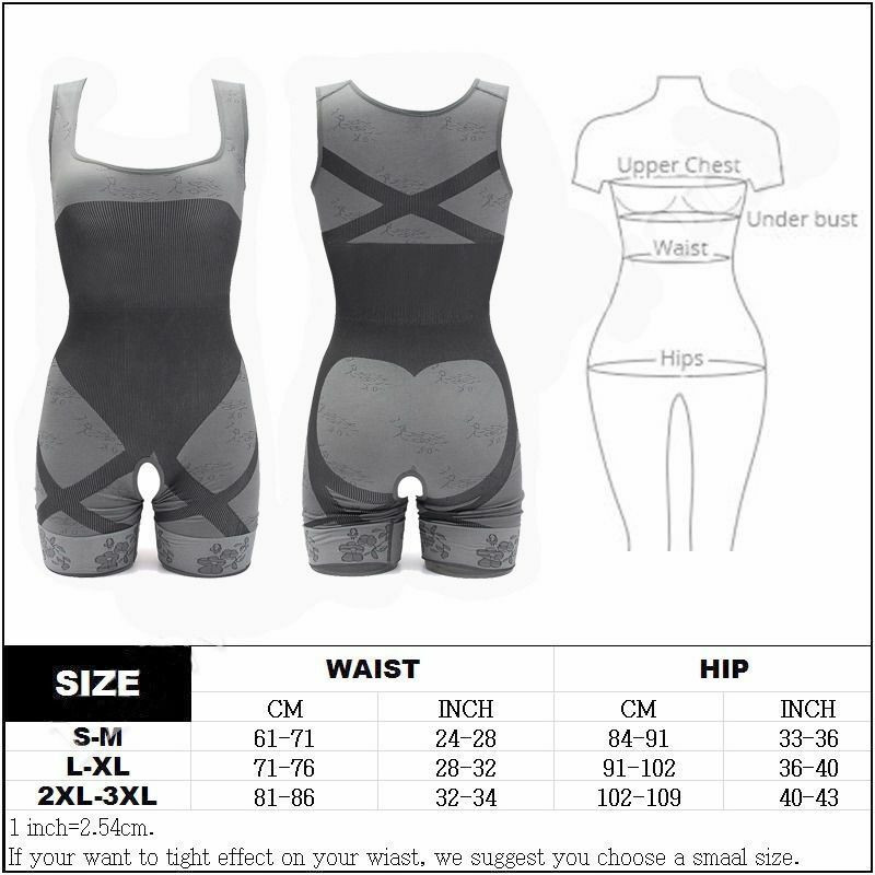 US Women Full Body Waist Trainer Cincher Shaper Underbust Corset Shapewear Pants