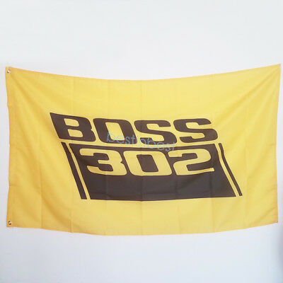 New Yellow Banner Flags for Boss 302 Flag 3x5FT Wall Banner Shop Show Decor for sale  Shipping to Canada