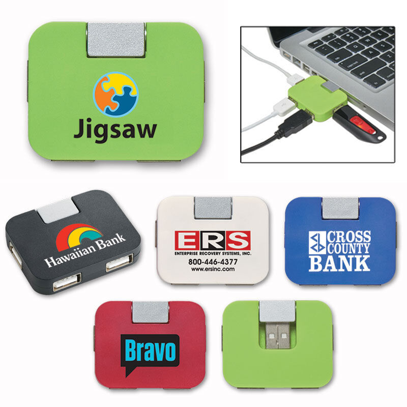 MINI USB HUBS - 100 quantity - Custom Printed with Your Logo