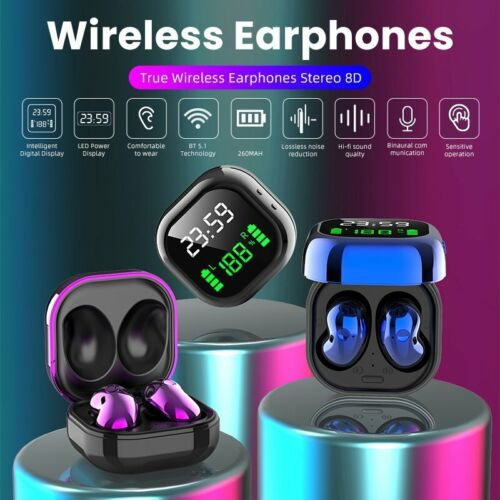 Bluetooth 5.1 Earbuds Headphones Wireless Earphone for iPhone Samsung Android