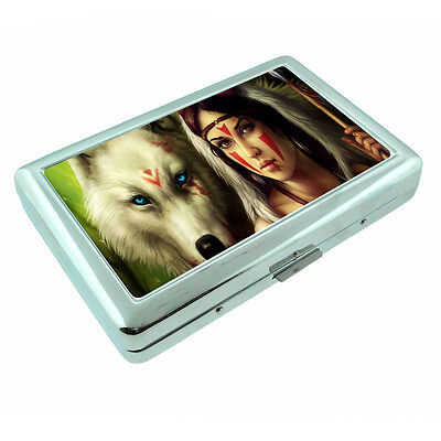 Amazon Warrior Princess D24 Silver Metal Cigarette Case RFID Protection