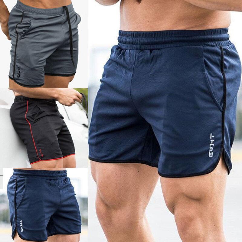 Men/'s Gym Training Shorts Workout Pocket Casual Clothing Fitness Running Shorts
