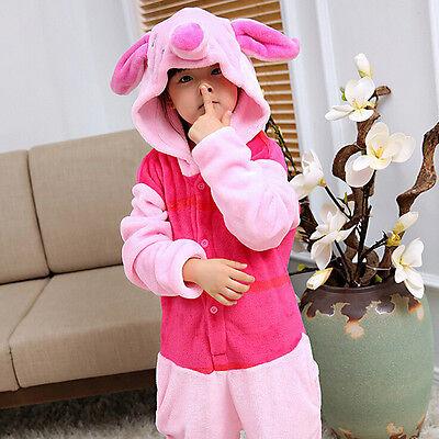 Children Animal Piglet Cosplay Pajamas Kigurumi Unisex Costume Sleepwear](Piglet Pajamas)