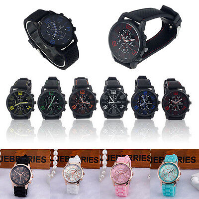 New Fashion Men Women Watch Quartz Analog Dress Sport Casual Wrist Watch
