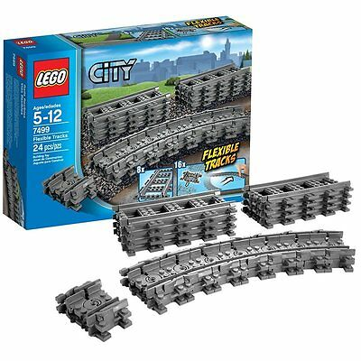 New Lego City Flexible Tracks Set 7499 Straight Play Brand Train Farther Kid Toy