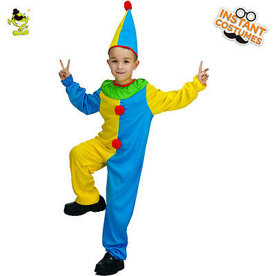 Funny Clown Costume Kids Carnival Party Clever Circus Buffon Cosplay Fancy Cloth - Clever Male Costumes