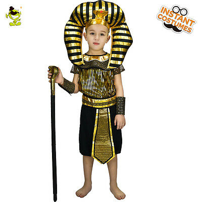 Loveable Kids Egyptian Priest Costume Noble Egypt Prince Role Play Fancy Outfits (Egyptian Prince Costume)