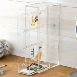 Muji Acrylic Clear Transparent Storage Earrings Jewellery Stand