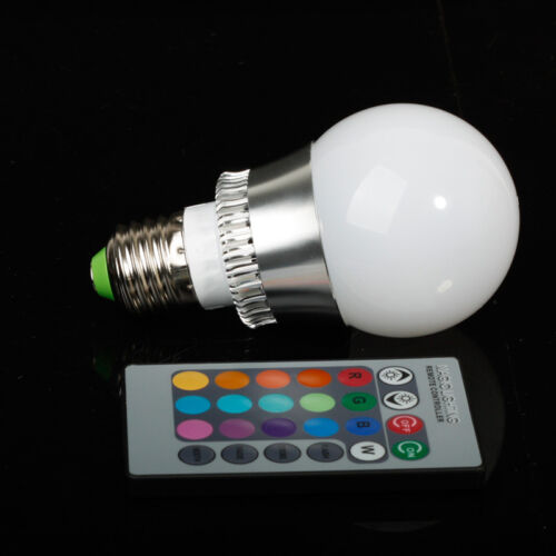 10w 5w 3w rgb led ir fernbedienung farbwechsel leuchte licht lampe strahler bulb ebay. Black Bedroom Furniture Sets. Home Design Ideas