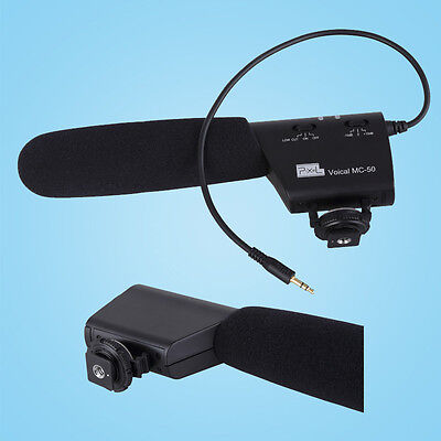 PIXEL Pro Record Microphone MC-50 3.5mm Output Connection Shock Resistant Mount