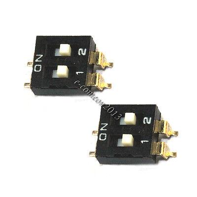 3pcs Smd Toggle Switch 2p 2.54mm Pitch Dip Switch Coding Switch High Quatity