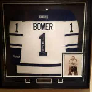 Toronto Maple Leafs - Johnny Bower Autographed Jersey Frame
