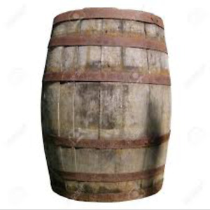 Looking for a wooden wine barrel