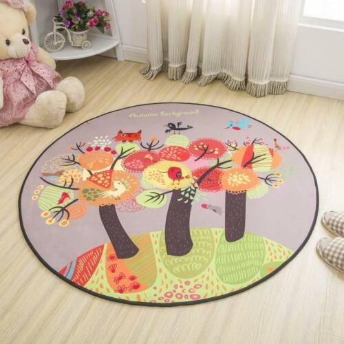 Simple Style Round Carpet Kids Rug for Bedroom Bedside Rug T