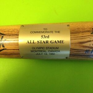 1982 ALL STAR GAME BASEBALL BAT(FROM OLYMPIC STADIUM IN MONTREAL