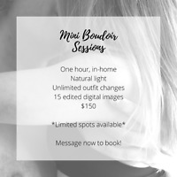 Boudoir Sessions Available