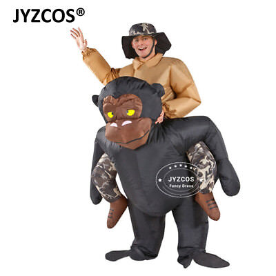 Adult Gorilla Costume Inflatable Blow Up Suit Party Fancy Dress Carnival Outfit (Gorilla Suit Costume)
