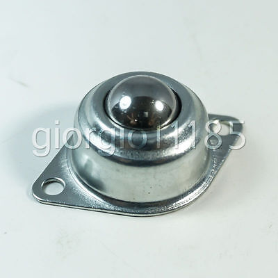 Us Stock 2x Dia 1 Inch Ball Metal Transfer Bearing Unit Conveyor Roller Wheel