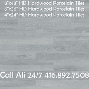 8x48 6x36 Ash High Density Rectified Porcelain Tile
