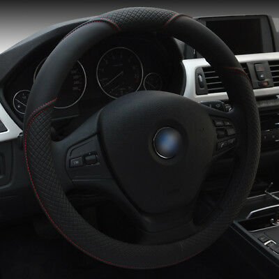 15''/38cm Car Steering Wheel Cover Microfiber Leather Breathable Anti-slip Black for sale  Shipping to United States