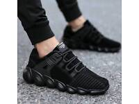 Black Suede Lace Up Trainers ON SALE