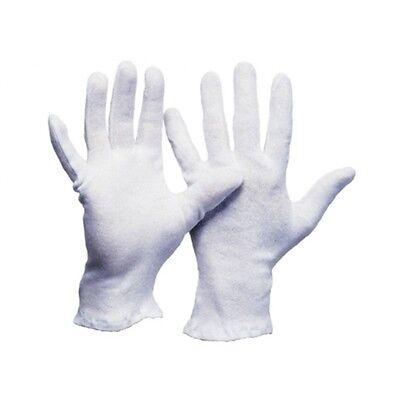 12-120 Paar Baumwollhandschuhe Strickhandschuhe weiße Handschuhe, Größen 6-13