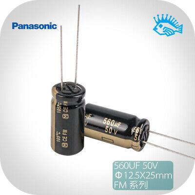 550pcs Panasonic Fm Series 50v 560uf 12.5x25 Audio Electrolytic Capacitor