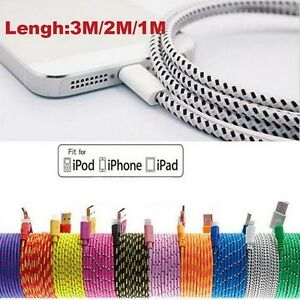 BRAIDED USB DATA CABLE CHARGER, SYNC WIRE / IPHONE 5S,6,6+,6S+,7 Regina Regina Area image 3