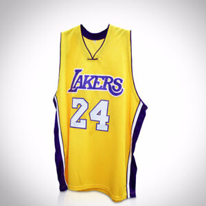 KOBE BRYANT LOS ANGELES LAKERS YELLOW Hand Signed Jersey