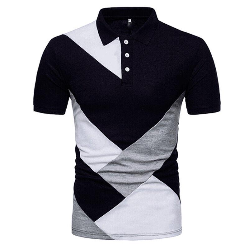 33f69bec0d6e Details about Men Slim Fit Collar Short Sleeve Golf Sport Shirts Summer  Casual T-shirt Tee Top