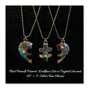 """NEW 3 Pc Set - """"Best Friends Forever"""" Necklaces"""