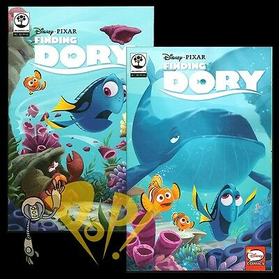 FINDING DORY #1 & #2 Comic JOE BOOKS Disney NM 2016 Nemo!