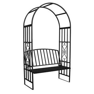 Steel Garden Bench Arch Trellis Seat Patio Furniture Feature