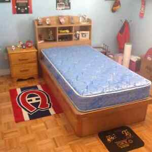 Twin Bed Set in Wood