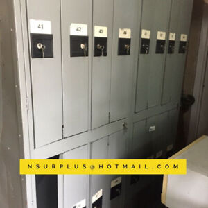 Lockers - banks of 8 (with keys) -- $200
