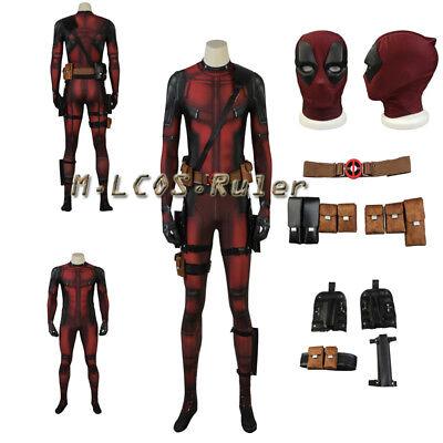 Dead Pool Suit (Hot Cakes X-men Deadpool Cosplay Costume Jumpsuits Hallowmas Accessories)