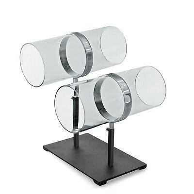 For Sale Counter Headband Display Rack - 2 Adjustable Poles Acrylic Chrome