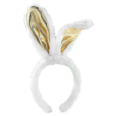 Zubehör für Kostüm: Goldene Bunny-Ohren aus Plüsch (Lustige Verkleidung)