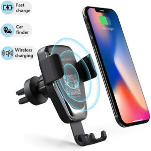 Brand New Wireless Car Charger Phone Mount, 2 in 1 Car Air Vent