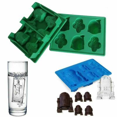 Star Wars Ice Cube Trays Molds Silicone Bar Cocktail Whiskey Maker Mould DIY
