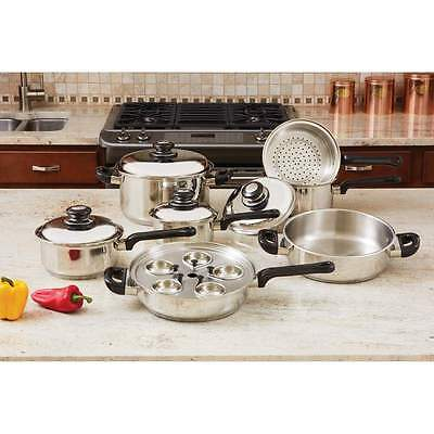- 17pc Stainless Steel Cookware Set KT172