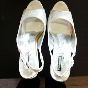 Silver Sparkly High Heels - Size 8 Kitchener / Waterloo Kitchener Area image 2
