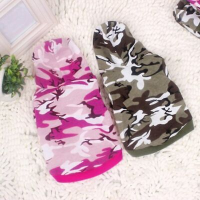 Dog Cat Clothes Puppy Camo Hoodie Pet Hooded Shirt Sweatshirt Costumes -