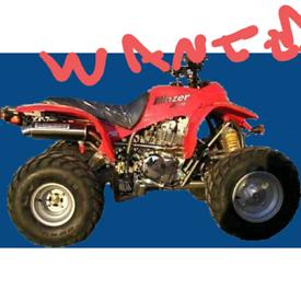 Wanted road quad atv