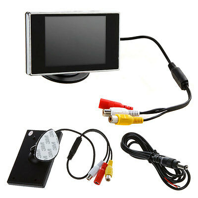 "3.5"" LCD Color Screen Monitor For Car Rear Reverse Rearview Backup Camera DVD UK"