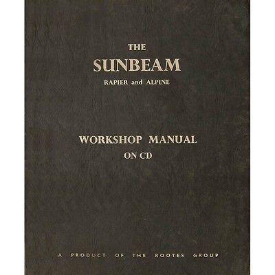 Sunbeam Alpine series I-IV & Rapier III-IV Work Shop Manual WSM 124/10 1966