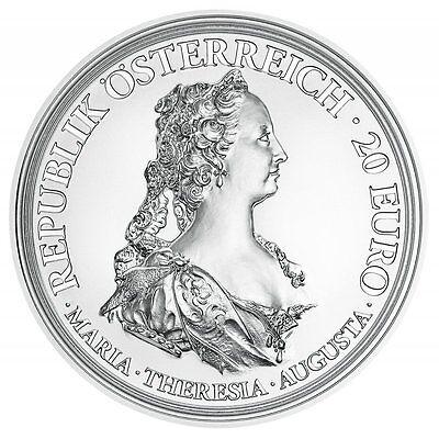 "2017 Austria 20 Euro Silver Proof Coin ""Maria Theresa Courage & Determination"""