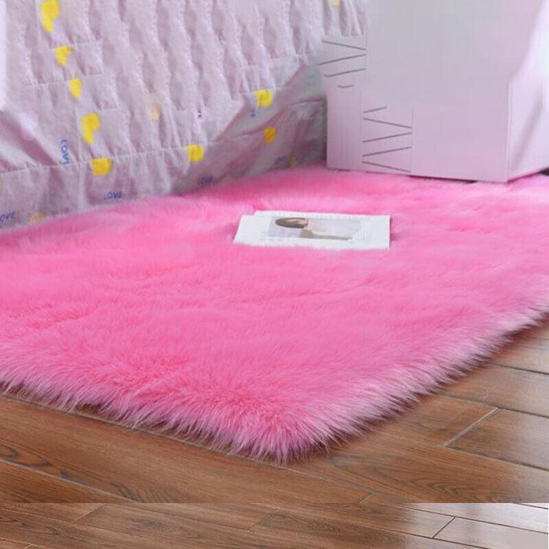 Fluffy Anti-Skid Rugs Bedroom Living Floor Mat