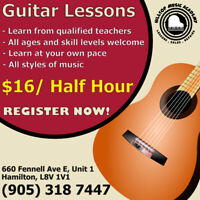 Guitar Lessons available at Hilltop Music Academy!